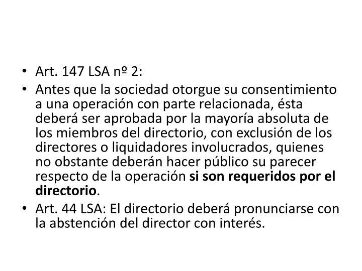 Art. 147 LSA