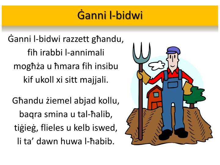 Ġanni l-bidwi