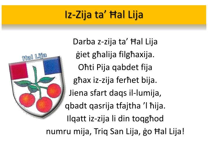 Iz-Zija ta' Ħal Lija