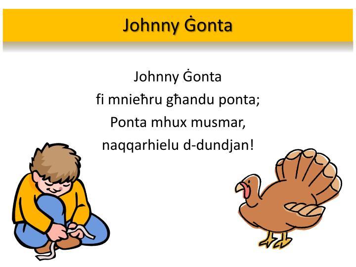Johnny Ġonta
