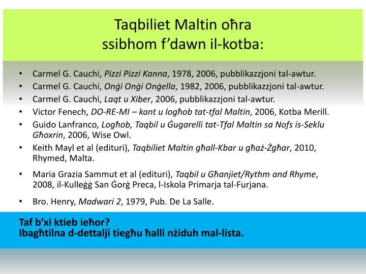 Taqbiliet Maltin oħra