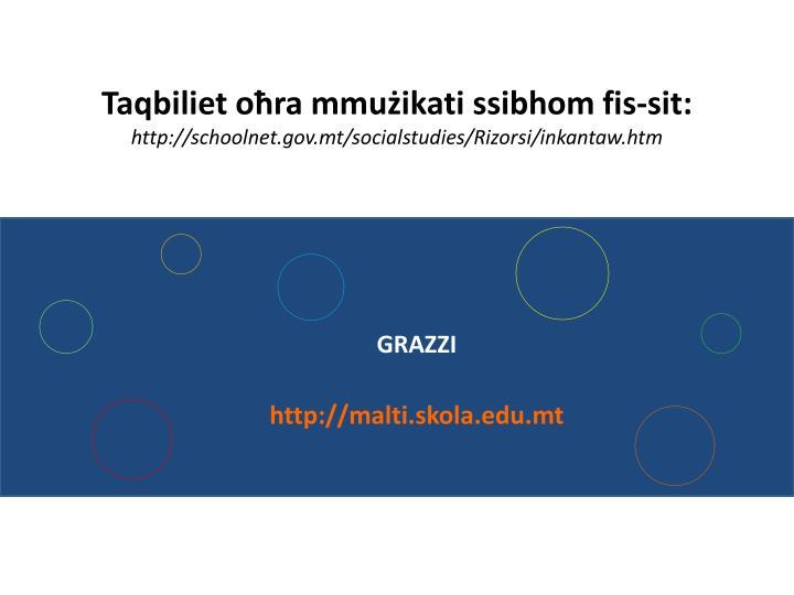 Taqbiliet oħra mmużikati ssibhom fis-sit: