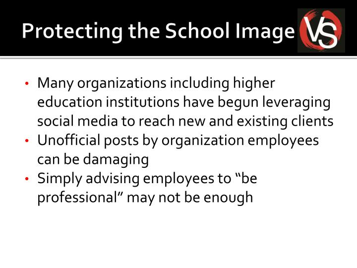 Protecting the School Image