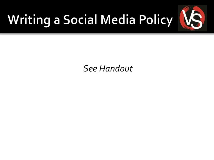 Writing a Social Media Policy
