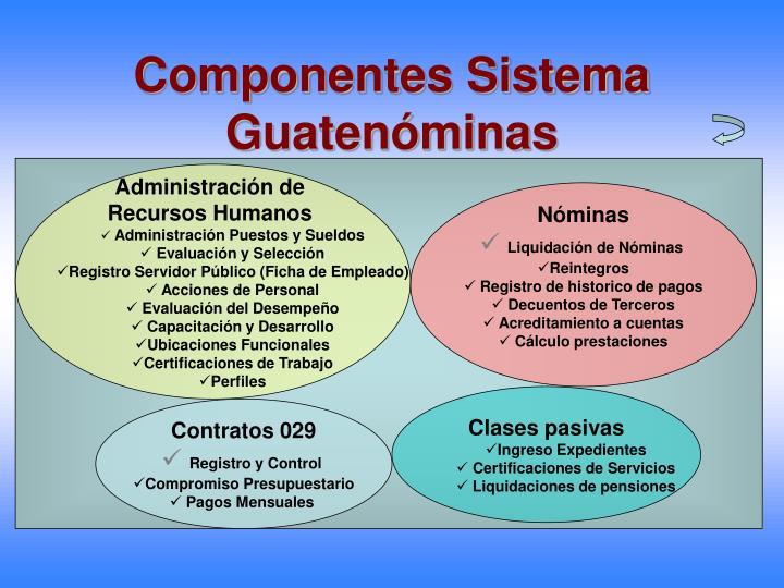 Componentes Sistema Guatenóminas