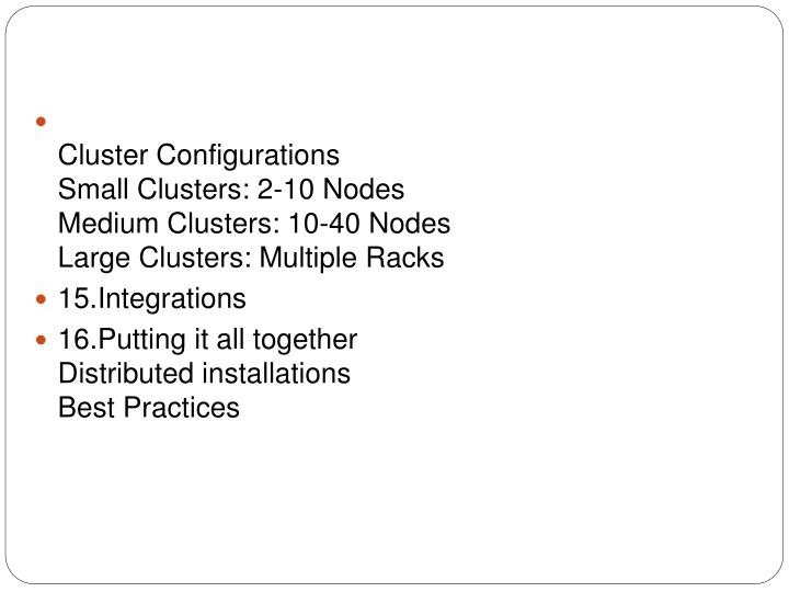 Cluster Configurations