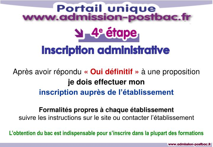 Inscription administrative