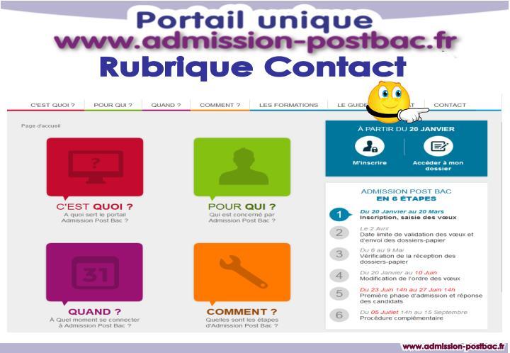 Rubrique Contact