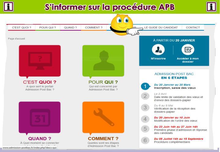 S'informer sur la procédure APB
