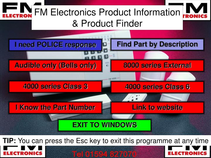 FM Electronics Product Information & Product Finder