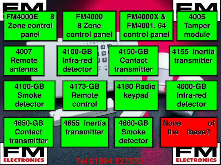 FM4000E      8 Zone control panel