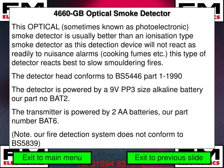 4660-GB Optical Smoke Detector
