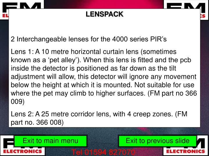 LENSPACK