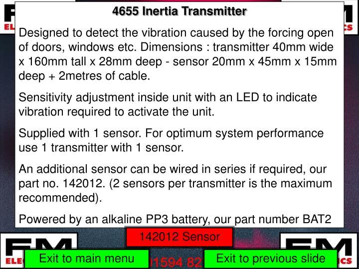 4655 Inertia Transmitter