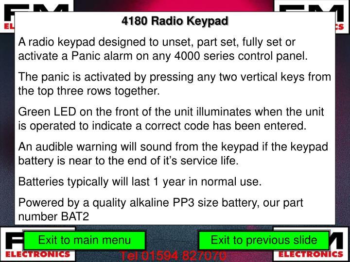 4180 Radio Keypad
