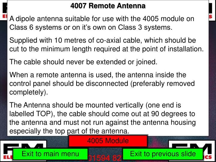 4007 Remote Antenna