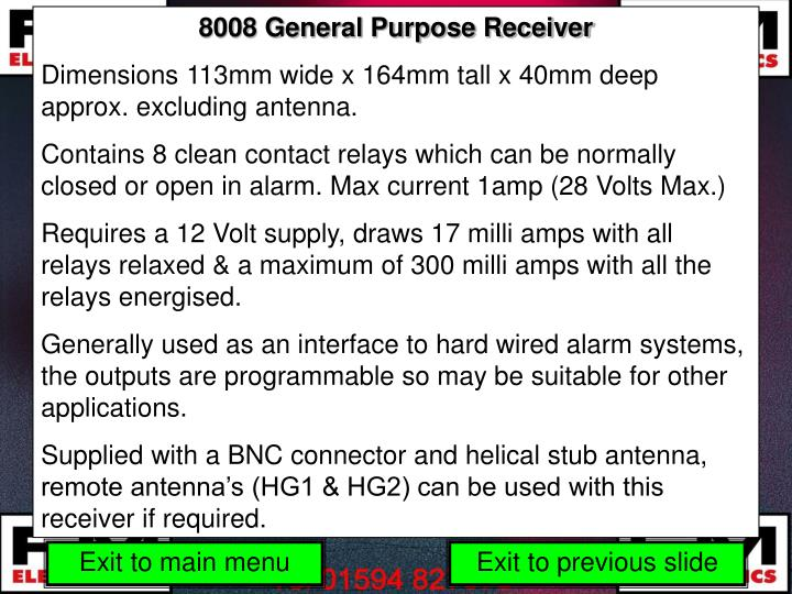 8008 General Purpose Receiver