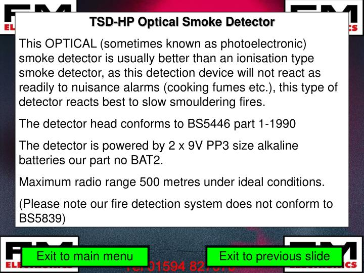 TSD-HP Optical Smoke Detector