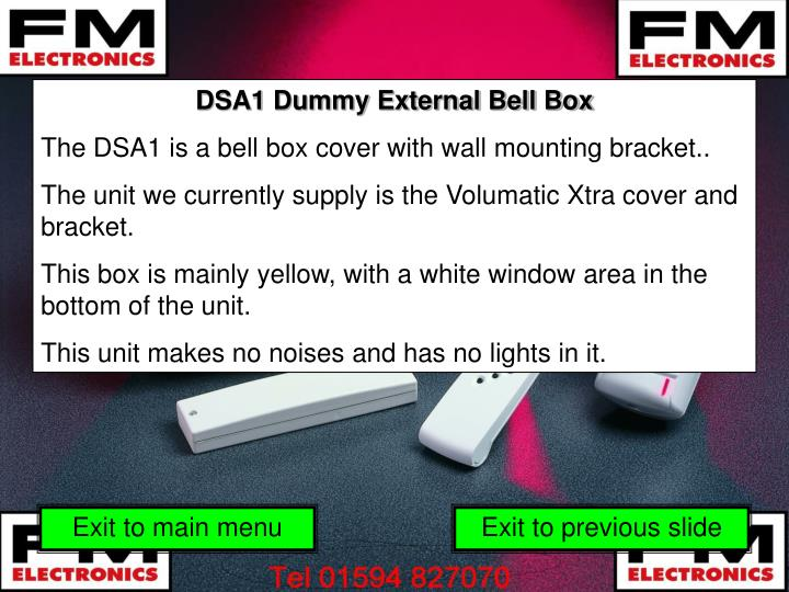 DSA1 Dummy External Bell Box