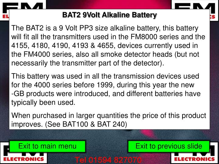 BAT2 9Volt Alkaline Battery