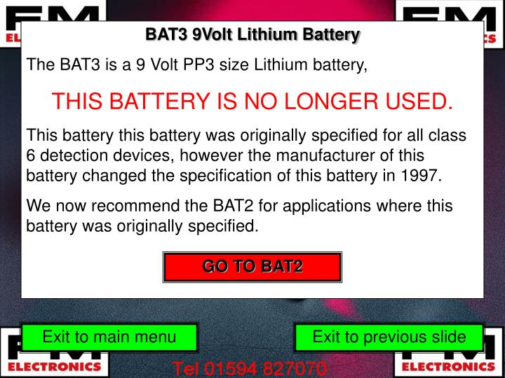 BAT3 9Volt Lithium Battery