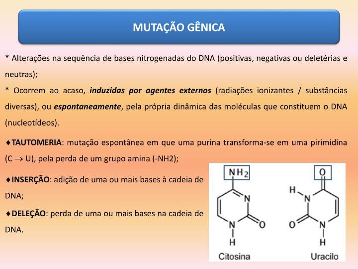 MUTAÇÃO GÊNICA
