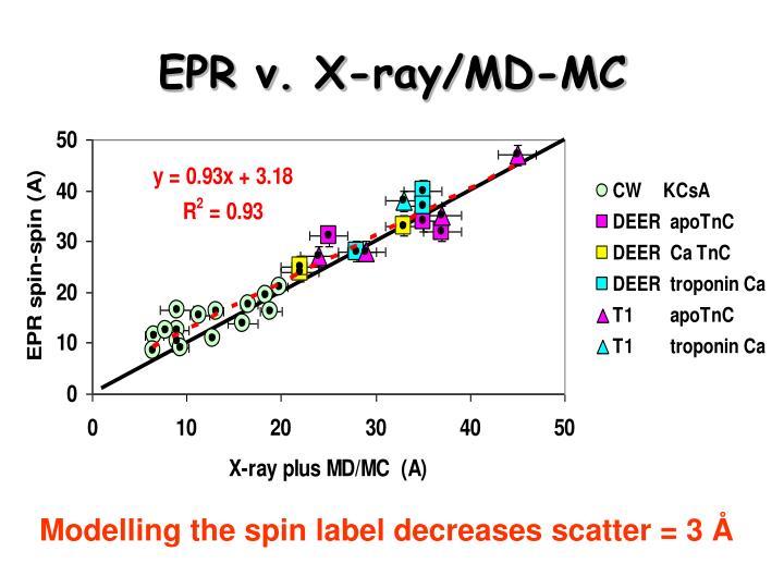 EPR v. X-ray/MD-MC