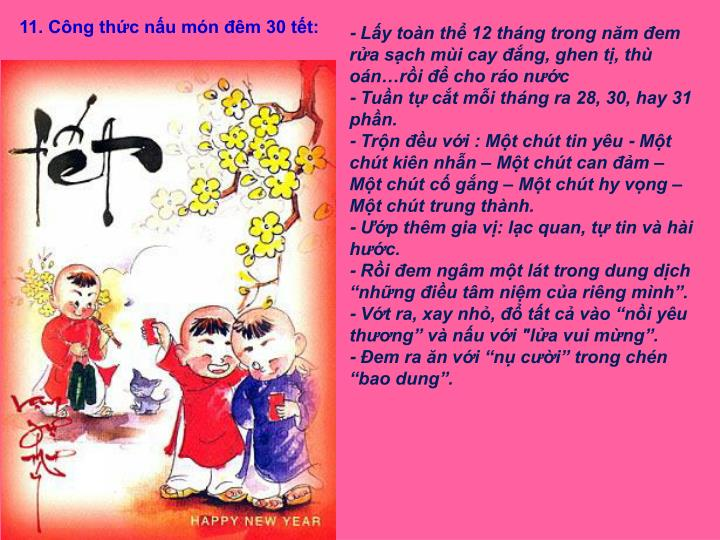 11. Cng thc nu mn m 30 tt: