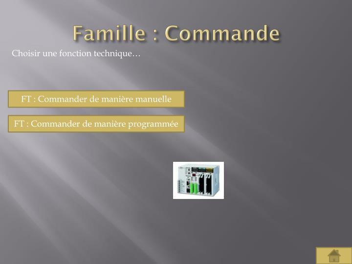 Famille : Commande