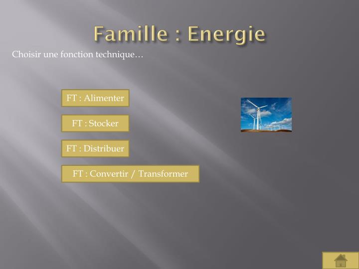Famille : Energie
