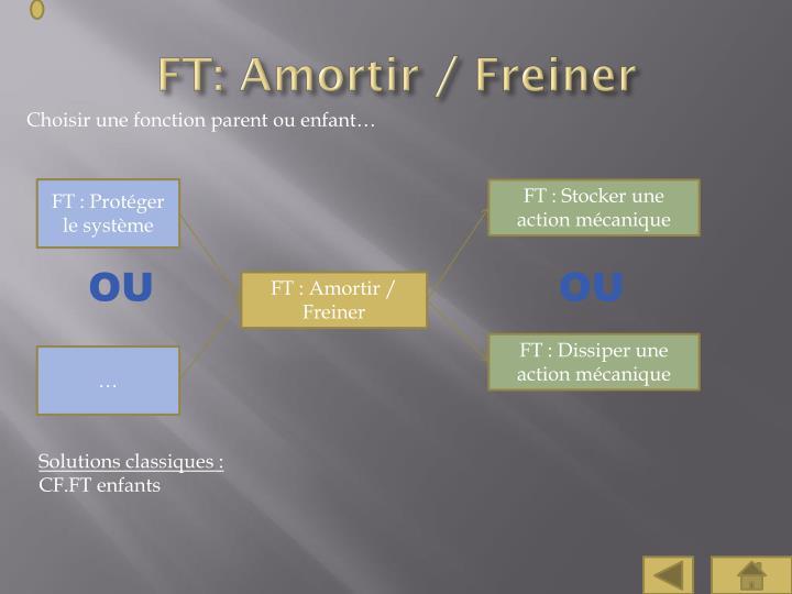 FT: Amortir / Freiner