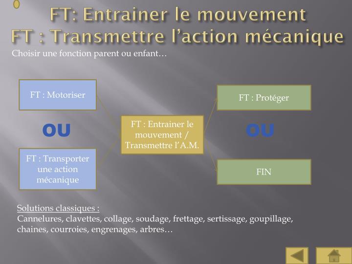 FT: Entrainer le mouvement