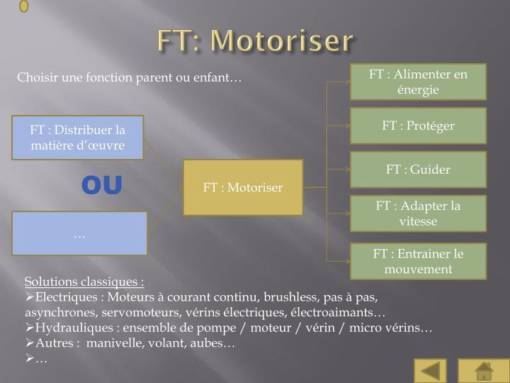FT: Motoriser