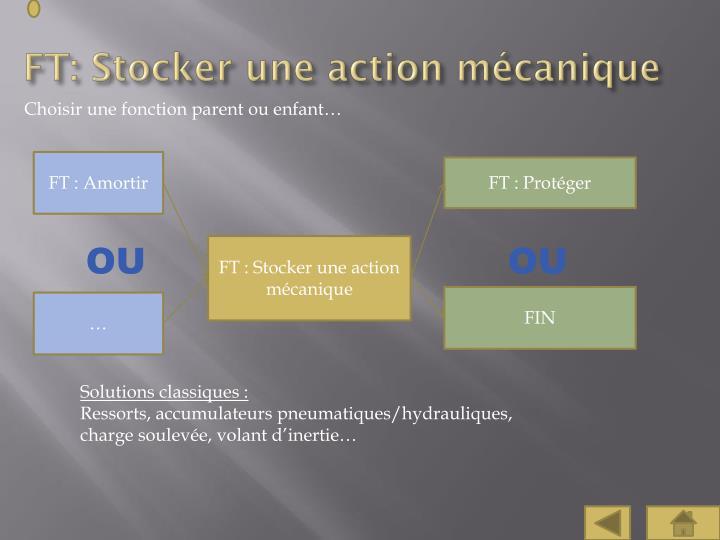 FT: Stocker une action mécanique
