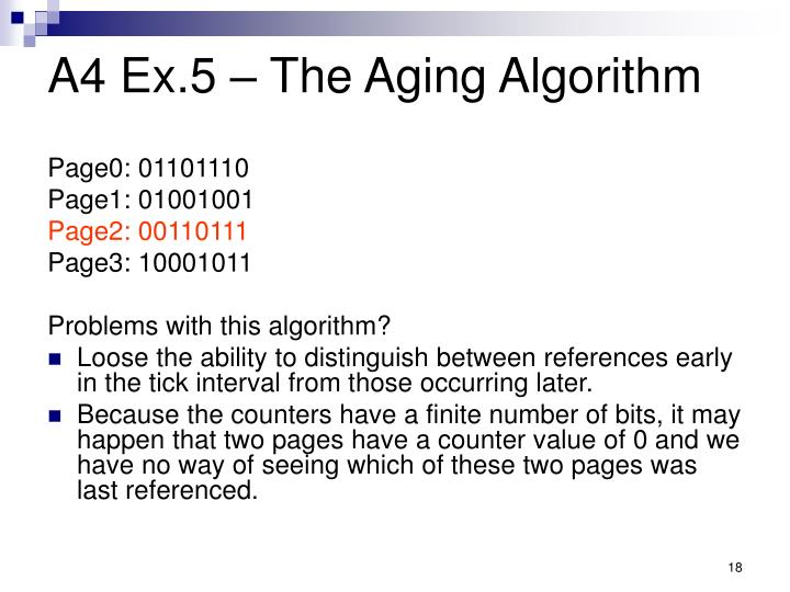 A4 Ex.5 – The Aging Algorithm