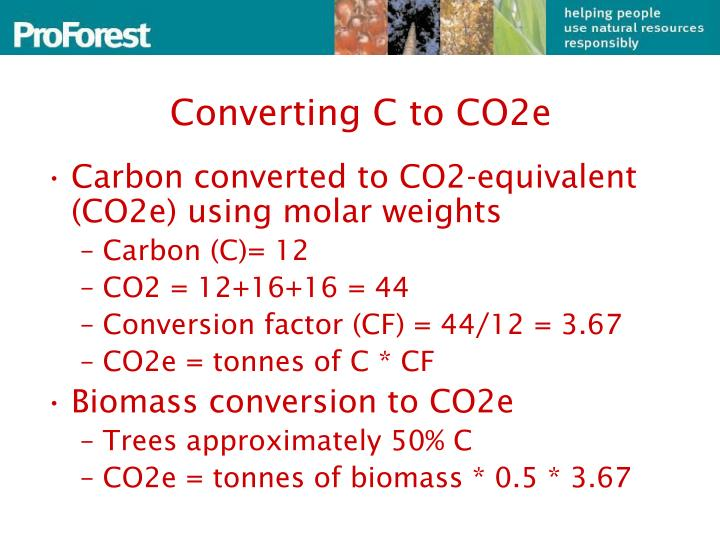Converting C to CO2e