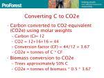 converting c to co2e