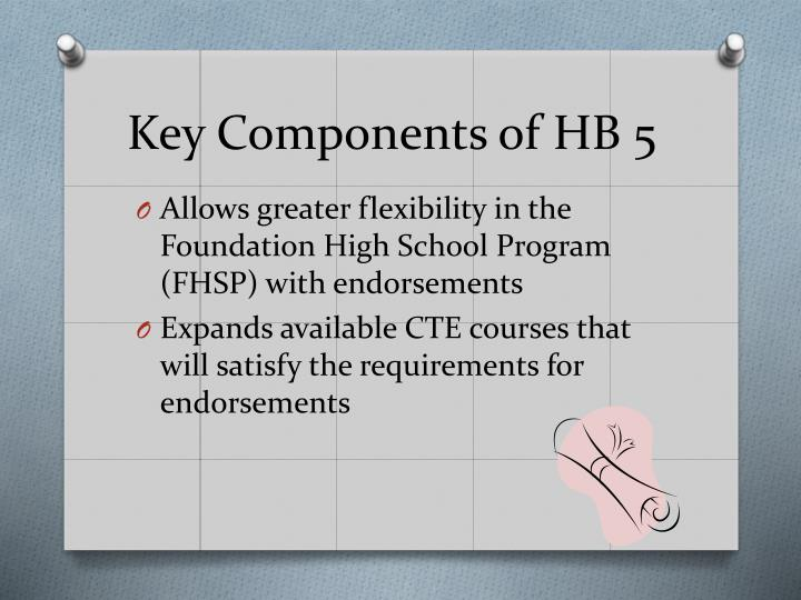 Key Components of HB 5