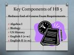key components of hb 51