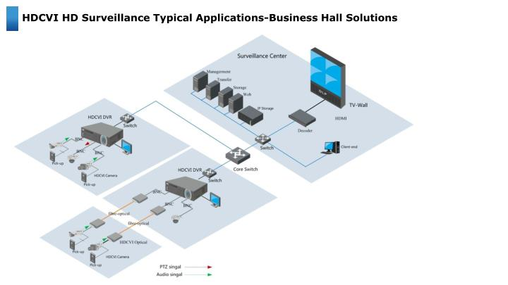 HDCVI HD Surveillance Typical Applications-Business Hall Solutions