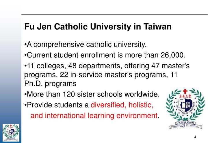 Fu Jen Catholic University in Taiwan