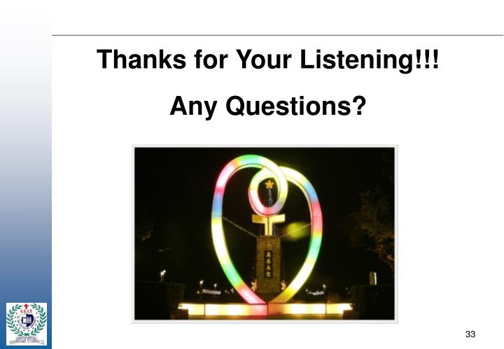 Thanks for Your Listening!!!