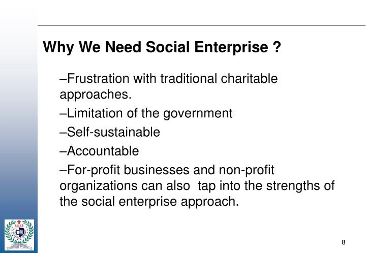Why We Need Social Enterprise