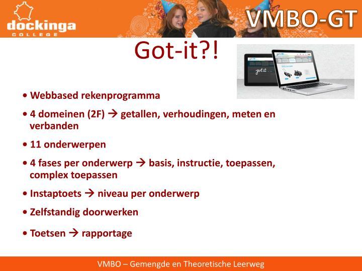 VMBO-GT