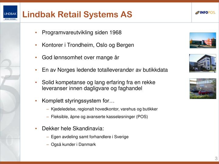 Lindbak retail systems as
