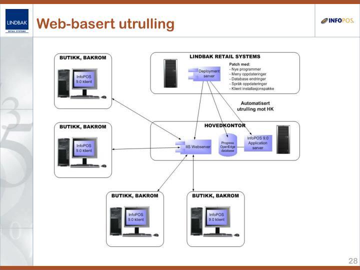 Web-basert utrulling