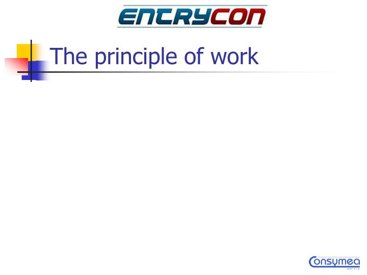 The principle of work