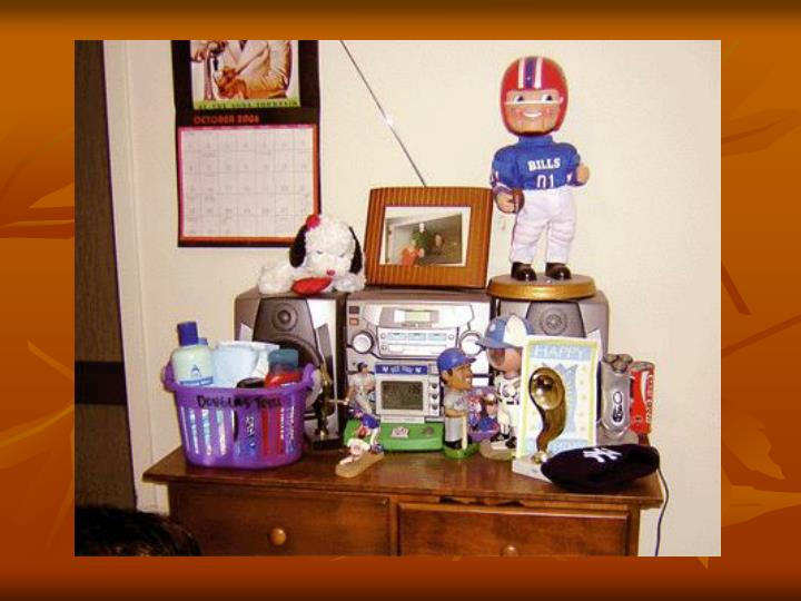 Look at everything Douglas has on his dresser!