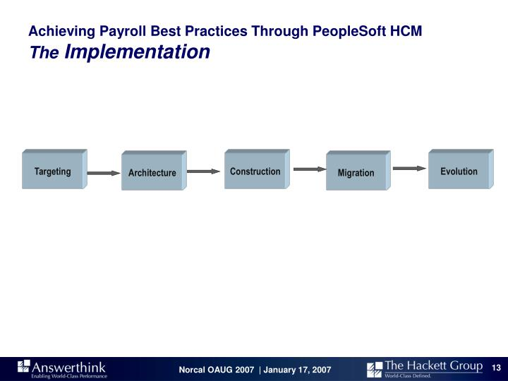 Achieving Payroll Best Practices Through PeopleSoft HCM
