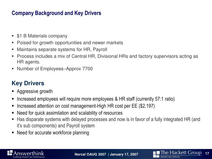 Company Background and Key Drivers